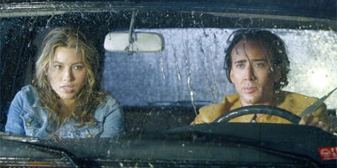 Jessica Biel and Nicolas Cage in NEXT
