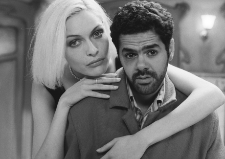 Rie Rasmussen and Jamel Debbouze in Luc Besson's Angel-A
