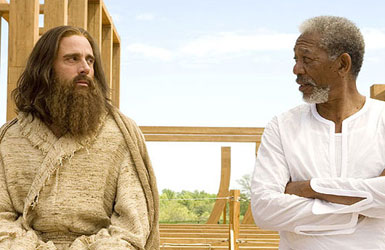 Steve Carrell and Morgan Freeman in Evan Almighty.